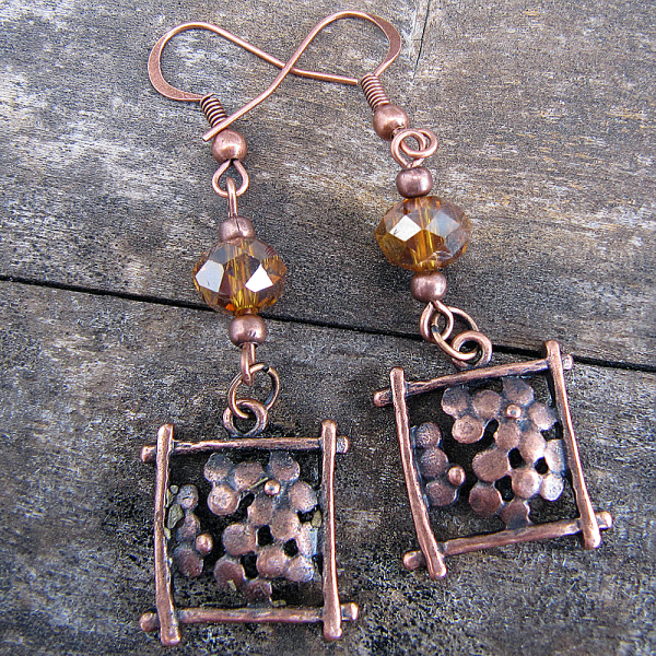 Amber Bling - Earrings - Weezie World