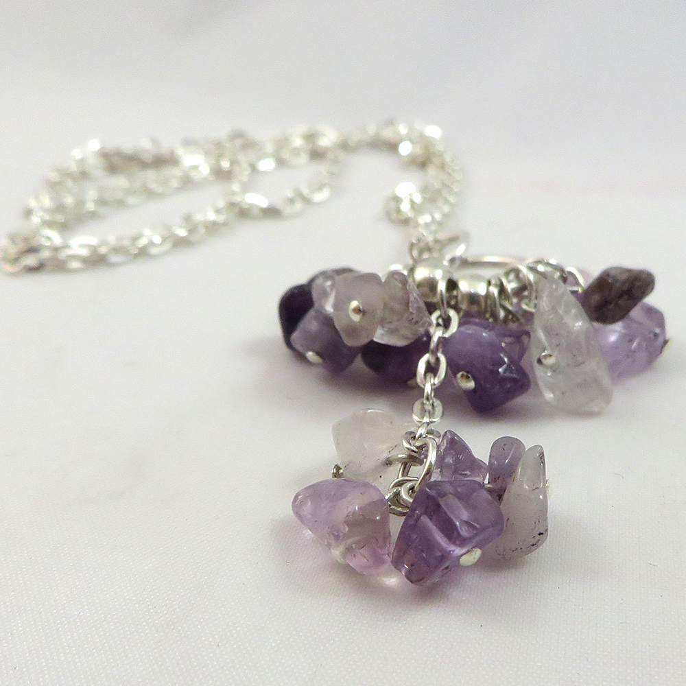 A Mess of Amethyst - Necklace - Weezie World