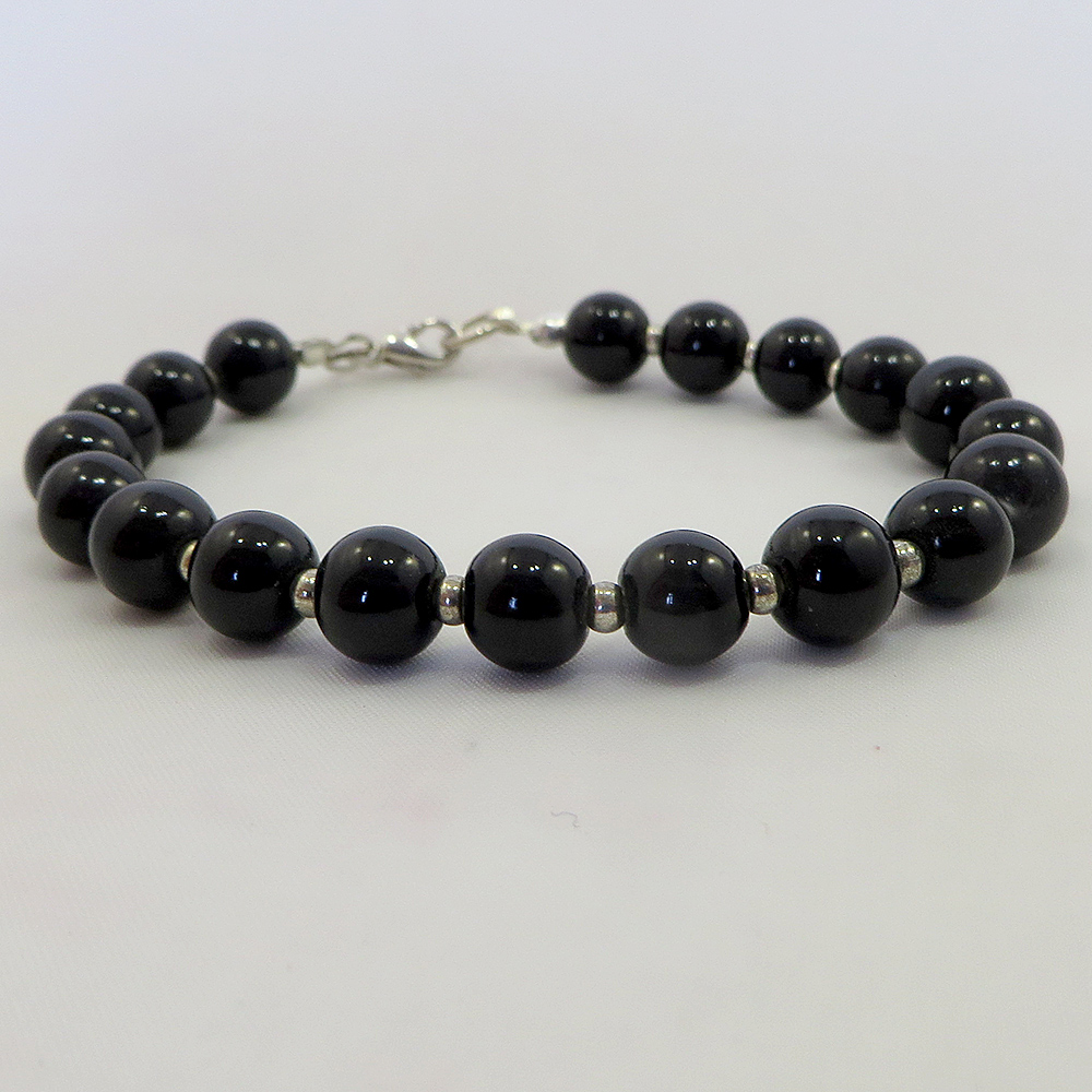 Silver & Black - Bracelet - Weezie World
