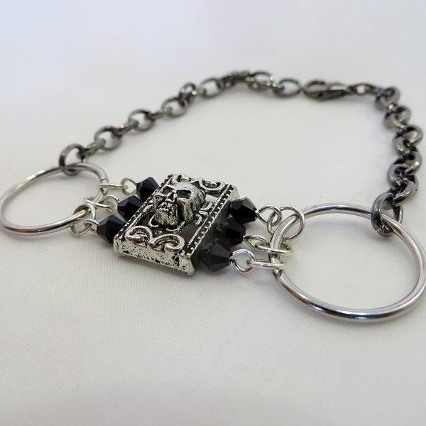 Glittering Goth (Gunmetal) - Bracelet - Weezie World