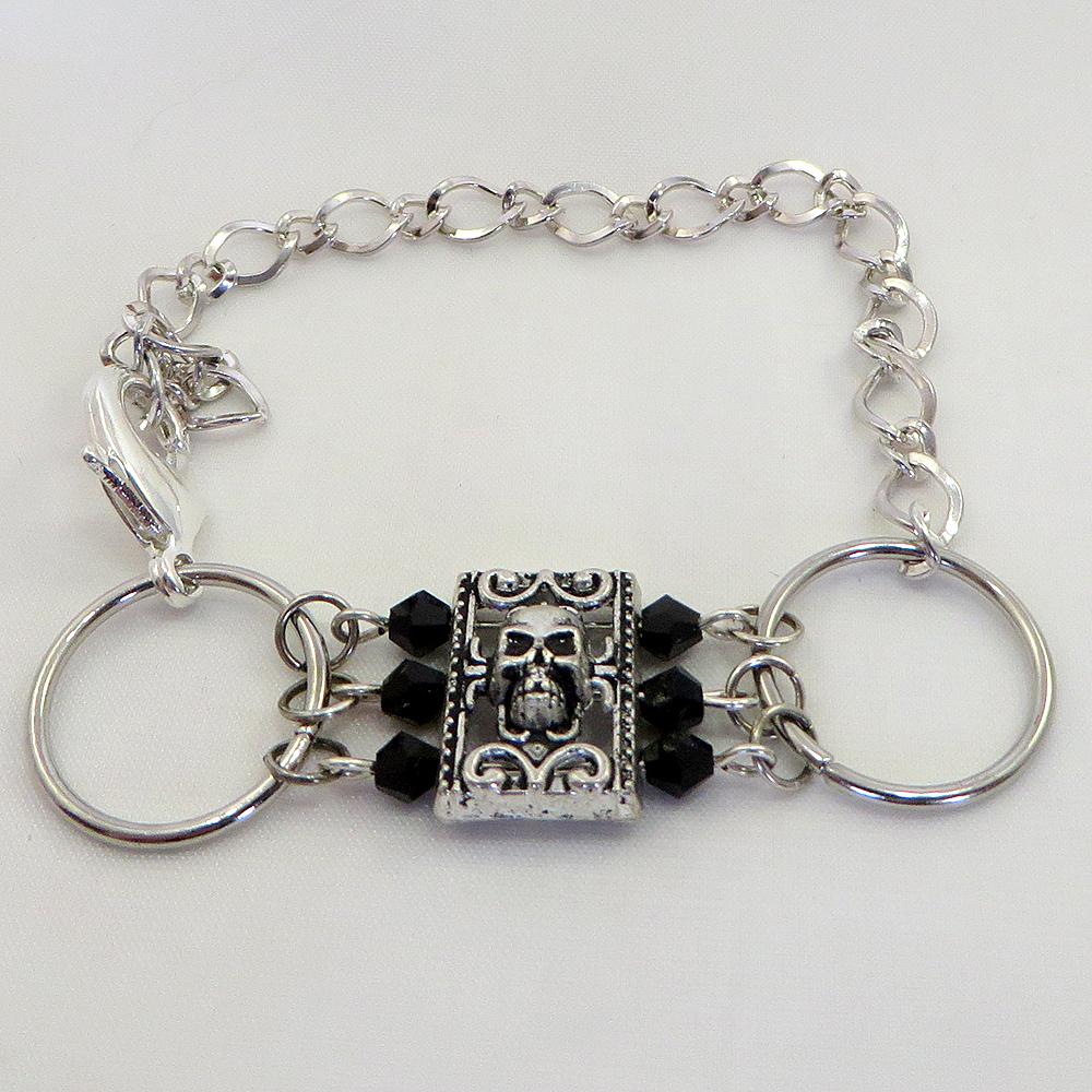 Glittering Goth (Silver) - Bracelet - Weezie World
