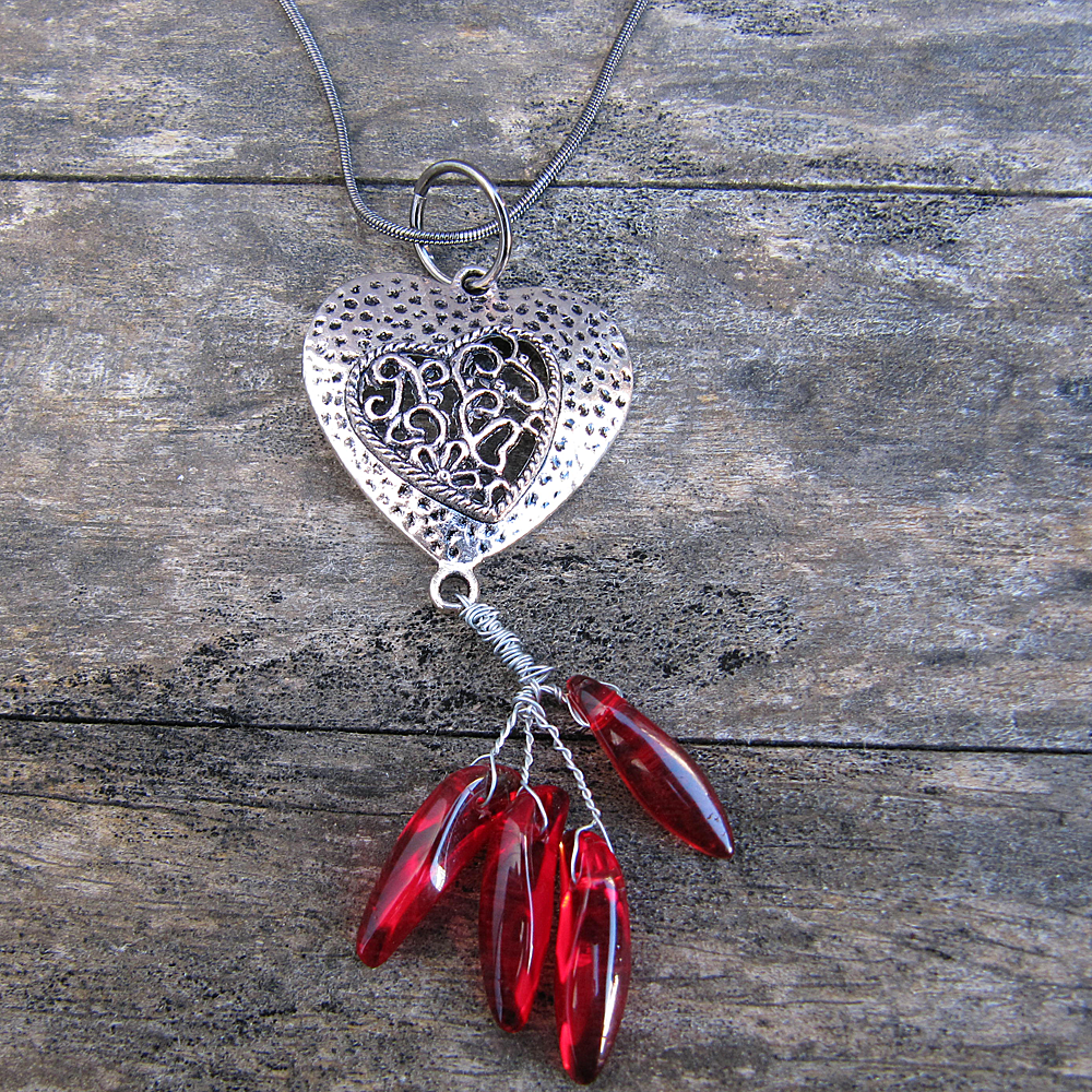 Heart Aflame - Necklace - Weezie World