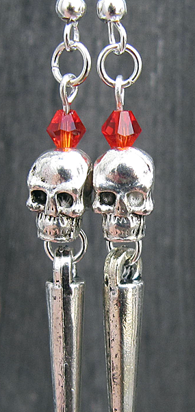 Heavy Metal Skullies (Ruby Red) - Weezie World