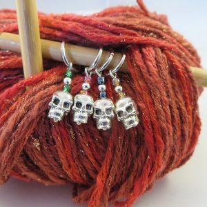 Silver Skull Stitch Marker - Weezie World