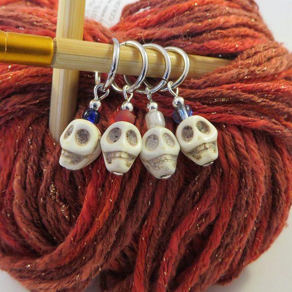 White Skull Stitch Marker - Weezie World
