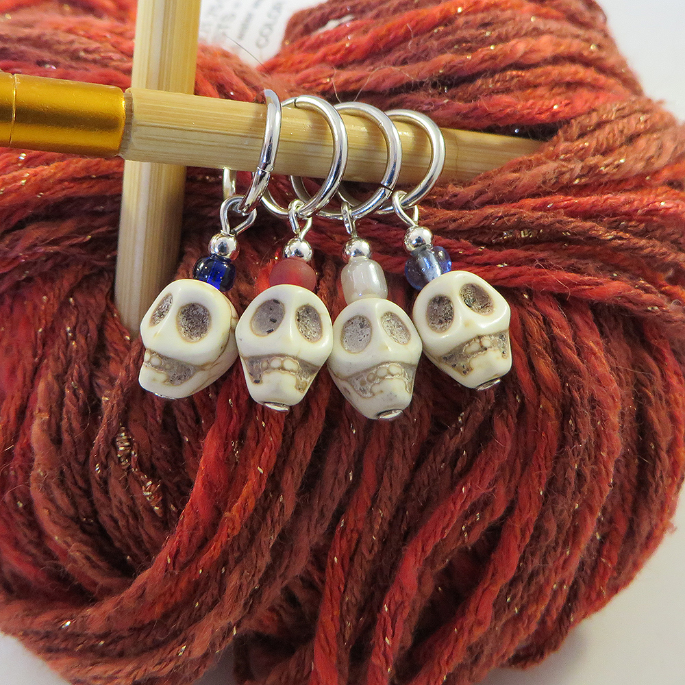 White Skull Stitch Marker - Weezie World