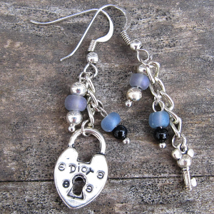 Key to My Heart Earrings - Weezie World