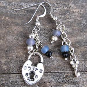 Key to My Heart Earrings - Weezie World