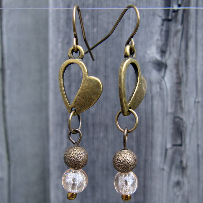 Heart of Brass Earrings - Weezie World